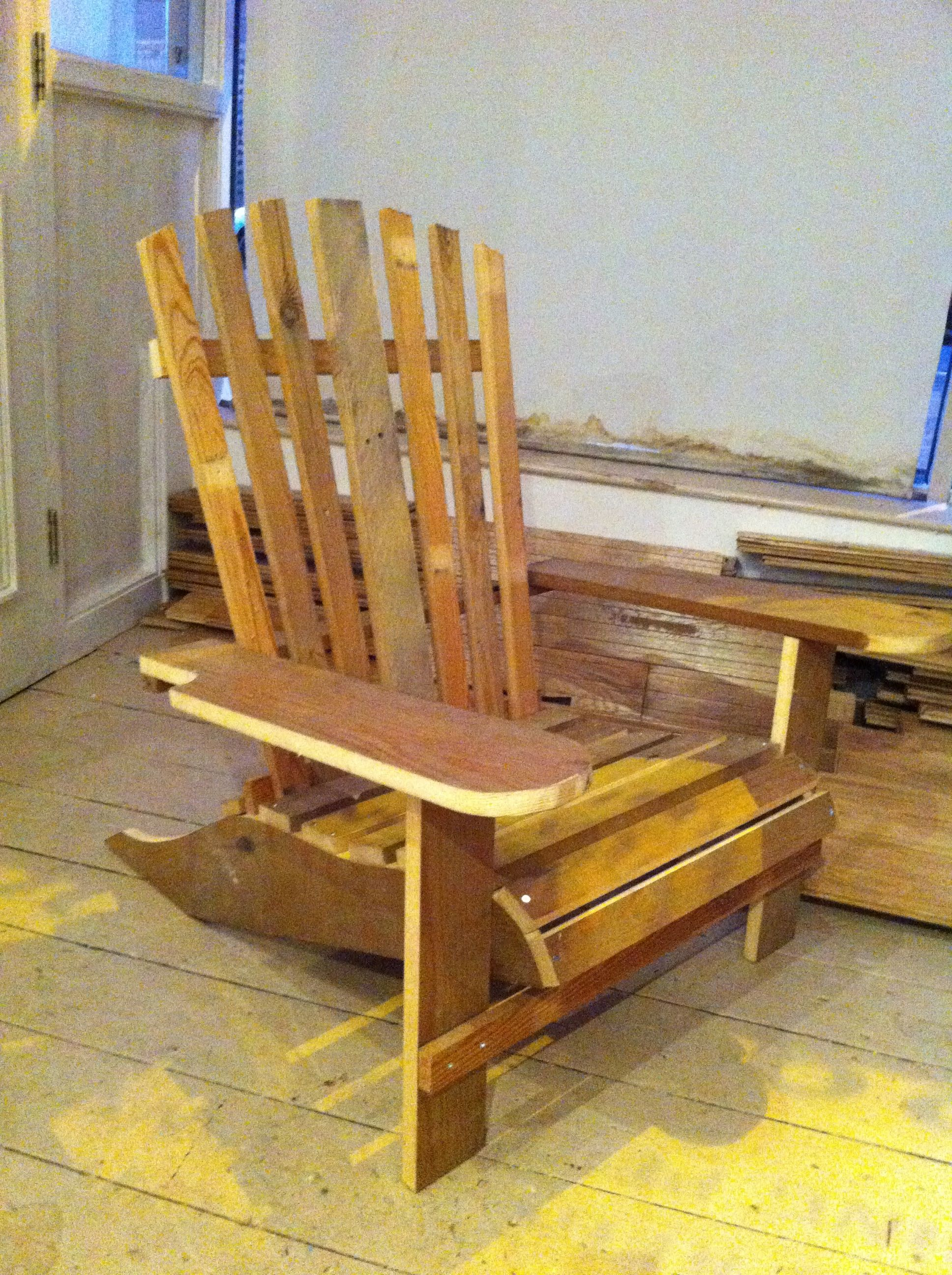 Folding Adirondack Chair Woodworking Plan Plans Free Download